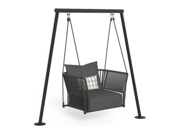Hanging garden armchair with armrests CLIFF | Hanging garden armchair