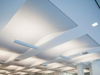 Sound absorbing radiant ceiling panels CLIMACUSTIC