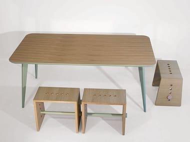 Tavolo rettangolare in legno CLIP