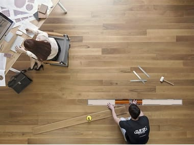 Modular installation system for parquet CLIP UP SYSTEM® 16 MM