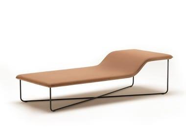 Chaise longue en tissu CLIVIO