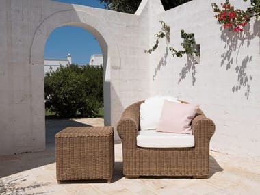 Garden armchair with armrests CLOE | Garden armchair