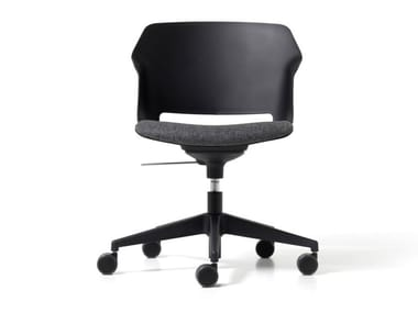 Height-adjustable polypropylene office chair with castors CLOP | Height-adjustable office chair