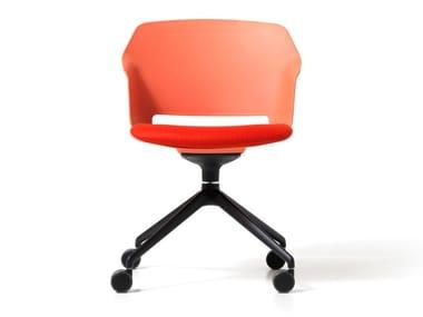 Polypropylene office chair with 4-Spoke base with armrests CLOP | Office chair with 4-Spoke base