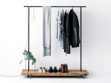 Reclaimed wood clothes rack RECLAIMED WOOD CLOTHES RACK #01