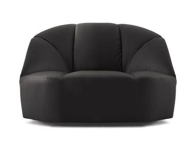 Leather armchair CLOUD | Armchair