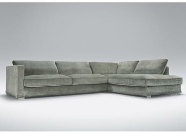 5 Seater Corner Upholstered Fabric Sofa Cloud