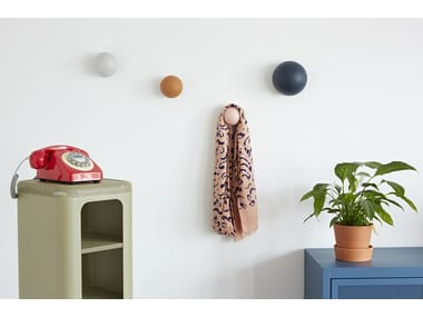Wall-mounted wooden coat rack PATÈRES CLOUS | Coat rack