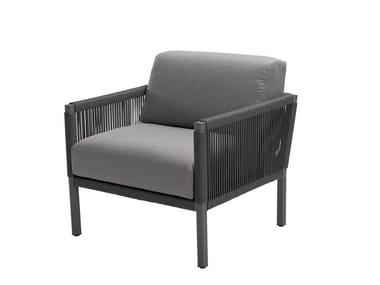 Fabric garden armchair with armrests CLUB LOUNGE