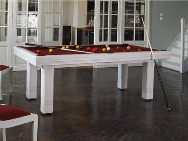 Rectangular solid wood pool table CLUB