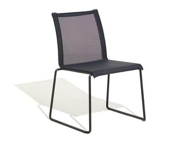Sled base stackable Vinytex garden chair CLUB | Chair