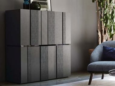 Lacquered highboard with doors CLUB | madia