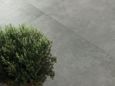 Pavimento per esterni in gres porcellanato effetto pietra CM2 MATERIE HIGH-TECH - PELTRO