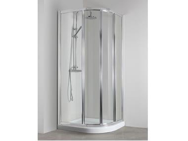 Box doccia angolare semicircolare con porta scorrevole CO-GI38