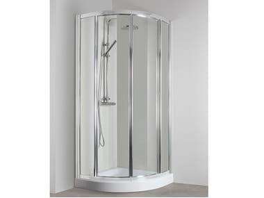 Box doccia semicircolare con porta scorrevole CO-T38E