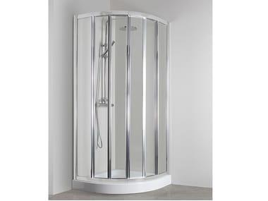 Box doccia angolare semicircolare con porta scorrevole CO-T55B