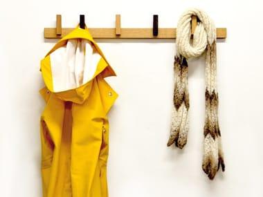 Wall-mounted wooden coat rack COAT RACK