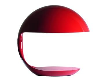 Direct light resin table lamp COBRA 50 YEARS