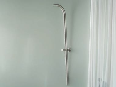 Duschsäule aus Edelstahl mit Kopfbrause zur Wandmontage COBRA