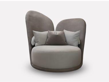 Upholstered nabuk armchair COCÒ