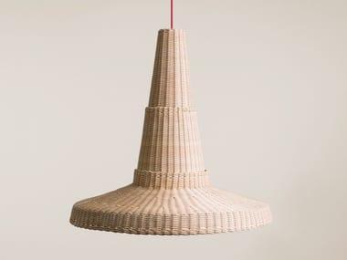 Woven wicker pendant lamp COCOLLA