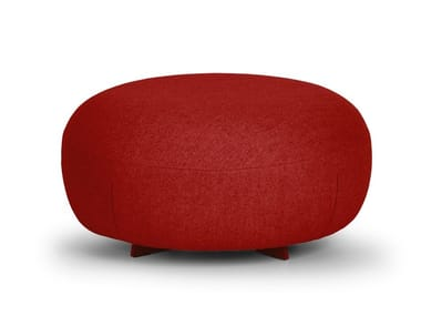 Upholstered round fabric pouf CODE | Round pouf