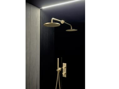 Brass shower mixer with overhead shower CODE | Shower tap