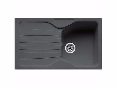 Lavello a una vasca in Fragranite® con sgocciolatoio ATG 611 By FRANKE