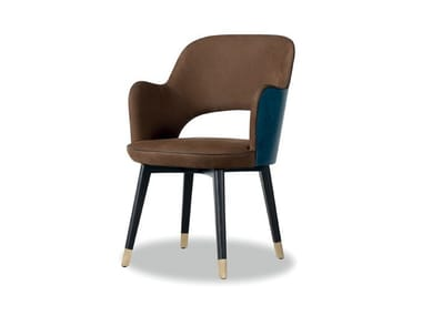 Leather chair with armrests COLETTE | Chair with armrests