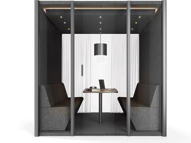 Akustisches Bürokabine mit integrierter Beleuchtung COLLABORATION CUBE