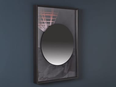 Wall-mounted framed mirror COLLAGE | Round mirror