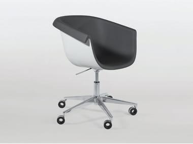 Swivel height-adjustable polyurethane chair with armrests COLLIER DESK
