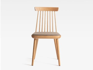 Wooden chair with integrated cushion COLONIAL | Wooden chair