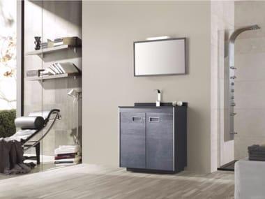 Mobile lavabo in MDF con ante e con specchio COLORS PINO 06