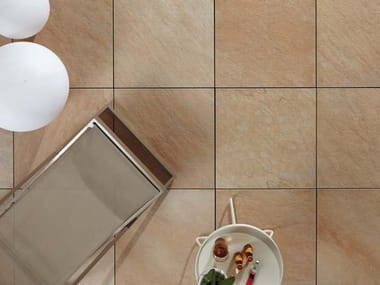 Outdoor floor tiles with stone effect COLOSSEO QUARZITE GIALLA