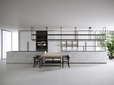 Carrara marble kitchen with island COMBINE EVOLUTION