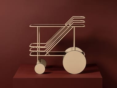 Glass and steel food trolley COME AS YOU ARE | Drinks trolley