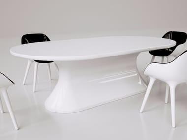 Tavolo da salotto laccato in Adamantx® COMFORTABLE