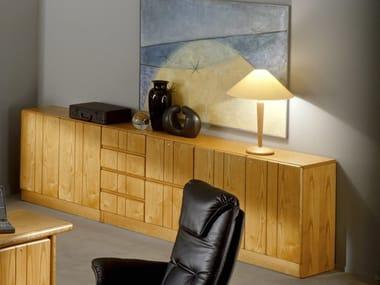 Wooden office storage unit COMMODORE | Office storage unit