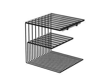 Powder coated steel bedside table COMOLINO