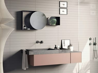 Wall-mounted vanity unit COMPACT LIVING - SET 1