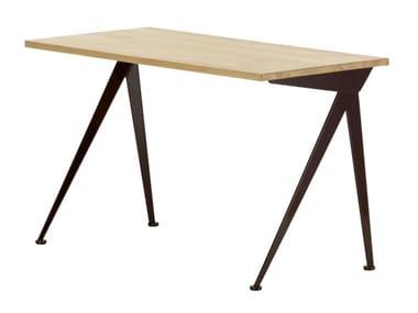 Rectangular solid wood writing desk COMPAS DIRECTION