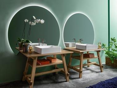 Floor-standing solid wood vanity unit COMPOSITION 1