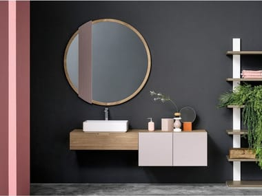 Single solid wood vanity unit COMPOSITION 3