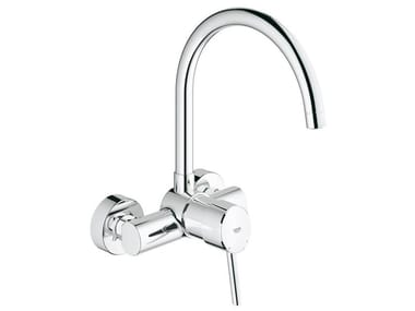 2 hole kitchen mixer tap with swivel spout CONCETTO | Wall-mounted kitchen mixer tap