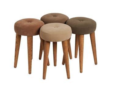 Fabric stool CONCHA