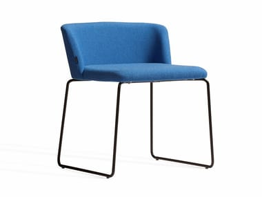 Sled base upholstered fabric chair CONCORD 520BV