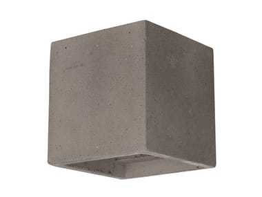 Direct-indirect light cement wall light CONCRETE 1