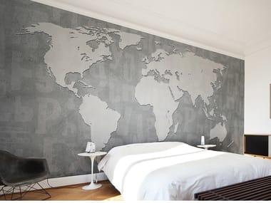 Papel de parede panorâmico de fibra de vidro CONCRETE MONDO