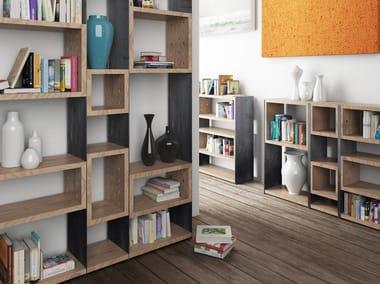 Open modular bookcase CONCRETE